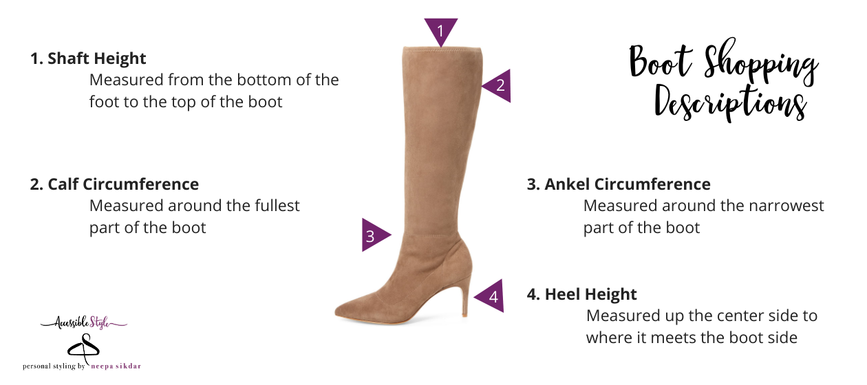 NJ Personal Stylist Neepa Sikdar Boot Shopping Descriptions