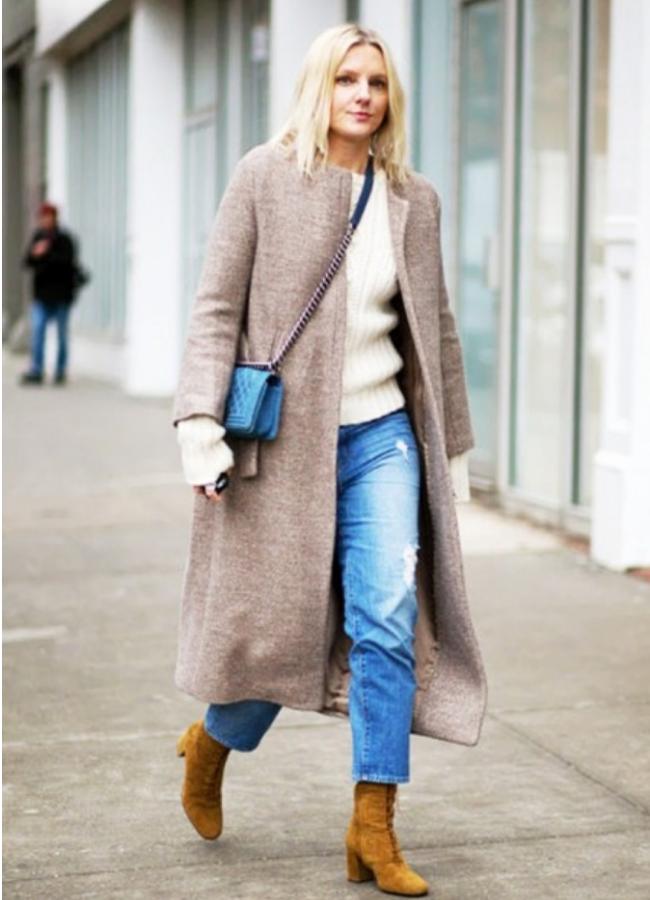 NJ Personal Stylist Neepa Sikdar Upgrade Your Boot Closet This Winter with ankle length denim, cozy sweater, long coat