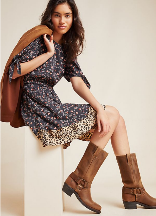 NJ Personal Stylist Neepa Sikdar Upgrade Your Boot Closet This Winter with printed dress or blazer