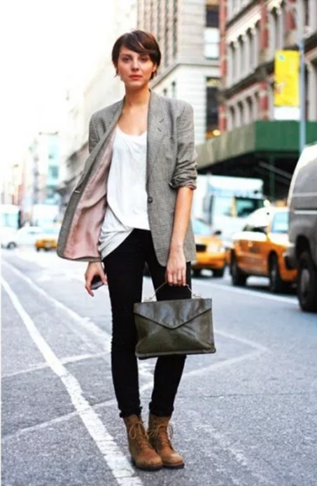 NJ Personal Stylist Neepa Sikdar Upgrade Your Boot Closet This Winter with combat boots and blazer