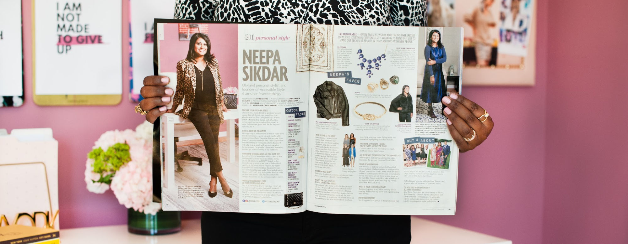 Accessible Style, NJ Personal Stylist Neepa Sikdar, Magazine Article spread