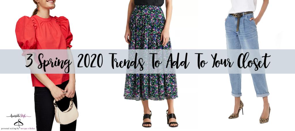 3 Spring 2020 Fashion Trends header image