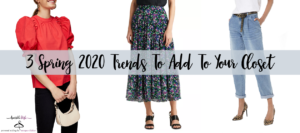 3 Spring 2020 Fashion Trends header image