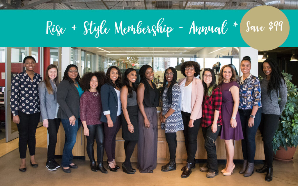 group of women styled - Rise + Style annual membership